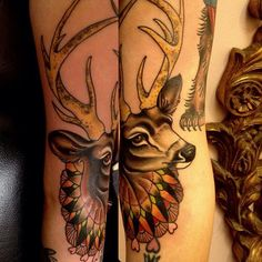 STAG TATTOO by ROSE HARDY