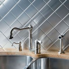 DIY Backsplash: Stick-on Metal Kitchen Tiles