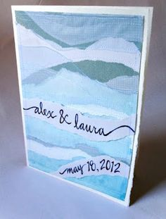 All Things Paper: Handmade Wedding Card