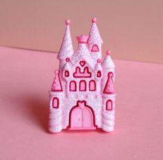 Kawaii Fairy Tale Ring Sparkles Castle Pink by XKawaiiCutieX