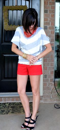 Love this necklace! stella and dot campari necklace is co cute with this outfit.  #StellaDotStyle