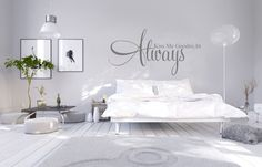 Muursticker Slaapkamer Always kiss me goodnight
