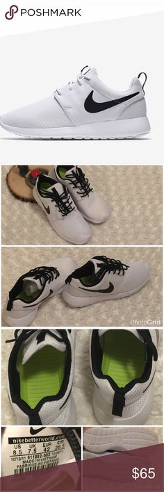 buy popular 25650 25806 Nike Roshe 511882 White   Black These shoes are super comfy and like new.  They