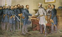 April 9th 1865: Robert E Lee surrenders to General Ulysses S Grant ending the Civil War.