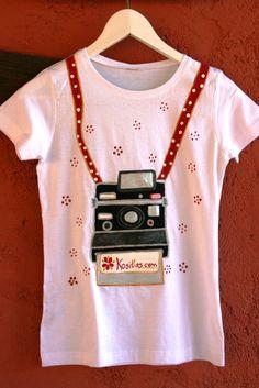 Camiseta retro, cinta lunares de kosittas.com