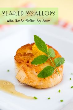 Seared Scallops in 3 ways: Garlic Butter Soy Sauce, Spicy Mayo, Unagi Sauce | JustOneCookbook.com
