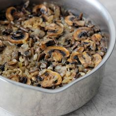 Mushroom Rice Pilaf Recipe: ½ tbsp. olive oil 1 small onion (diced) 6 large mushrooms (chopped) ¾ cup brown rice 1 ¾ cups vegetable broth (I used low sodium) Salt and pepper (to taste) Recipe Directions: On medium heat add oil in a small sauce pan and onions; let onions cook until translucent. Add mushrooms to the pot stirring occasionally, about 5 minutes. Stir in rice and let it cook for 3 minutes. Stir in vegetable broth, add salt a peeper and cover with lid; reduce he...