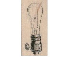 New to pinkflamingo61 on Etsy: Steampunk supplies light bulb stamp wood Mounted   rubber stamp    stamp number 18356 (6.50 USD)