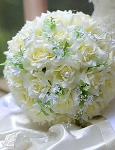 Wedding Flowers Round Roses Bouquets. Get unbelievable discounts up to 70% Off at Light in the Box using Coupons.
