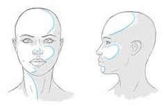 Image result for drawing light shadow face