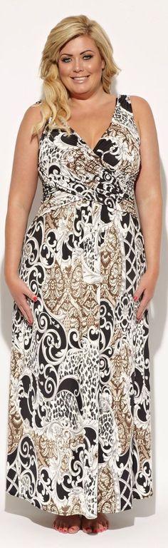 Boho Chic Maxi Dresses in Plus Sizes at boomerinas.com/... #PlusSizeDresses