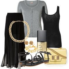 """Black Summer"" by mariannamasz on Polyvore"