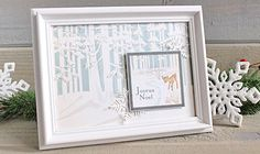 """joyeux noel frame by Kimberly Crawford with the """"Christmas Wonderland"""" collection by Winter Christmas, Christmas Home, Christmas Crafts, Merry Christmas, Echo Park Paper, Christmas Wonderland, Holidays And Events, Decorating Your Home, Card Making"""
