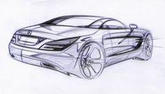 Mercedes-Benz SL-Class - эскиз конструкции