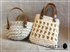 Mini crochet totes