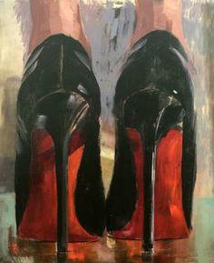 "Saatchi Art Artist Pascale Taurua; Painting, ""Louboutin"" #art"