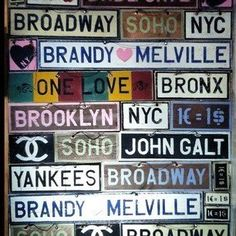 Image discovered by Sara Lucía. Find images and videos about nyc, channel and brandy melville on We Heart It - the app to get lost in what you love. Brandy Melville Signs, Wall Collage, Wall Art, Wall Decor, Room Decor, Diy Tumblr, Tumblr Rooms, Roomspiration, Wall Quotes
