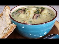 https://youtu.be/Odv3RKAHhRw Looking for a satisfying, comforting soup to warm you on those cold winter evenings? Then this recipe is for you. Not only is it filling and delicious, but it is packed with nutrient dense kale and vitamin rich mushrooms. You will not be able to stop yourself from eating more than one bowl! Recipe:…