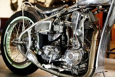 """The saying """"it's in his blood"""" gets thrown around a lot when sons follow in their father's footsteps. But Jeremy Cupp of LC Fabrications must have the blood of a thousand men, becauseto single-handedly create this masterpiece and do it from scratch takes skills surely not possible for one man to possess in a life time. But that is exactly what he has done in creating this Harley Davidson CAC factory speedway inspired machine from entirely handcrafted components and a drivetrain that ..."""