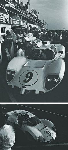 8 X 10 1967 Daytona 24 Hrs Chaparral 2F Phil Hill Watercolor Print
