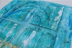 Abstract Fiji Beach painting Original on canvas  by NewCreatioNZ, $49.00