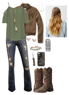 """""""Untitled #260"""" by horselover2409 ❤ liked on Polyvore featuring Hollister Co., WearAll, Laredo, FOSSIL, Sydney Evan, Blazin Roxx and Chan Luu"""