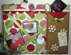 Inking Idaho - Holiday message board w/ decorated pins
