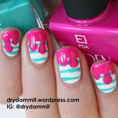 this #nailart design inspired from mobile phone cover shopping. Who knew mobile phone cases were so inspirational? drydammit.wordpress.com
