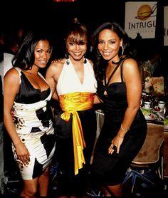 Nia Long, Janet Jackson & Sanaa Lathan - all 40 plus Jackson Family, Janet Jackson, Black Girls Rock, Black Girl Magic, Beautiful Celebrities, Beautiful People, Beautiful Women, Nia Long, Sanaa Lathan