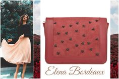 Elena bag in bordeaux shades is made of natural leather and suede @wild