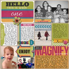 Project Life Week 1-Page 1 - Scrapbook.com