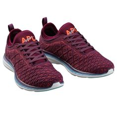 APL Women's Running Shoes TechLoom Phantom Wine/Arctic/Magma
