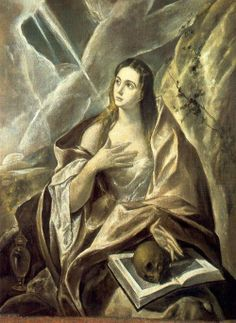 Magdalena penitent 2 El Greco Domenikus Theotokopulos http://www.tumblr.com/search/el%20greco