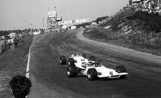 1969 Formula 2 ZOLDER ,Kurt Ahrens (Brabham No.10) in hot pursuit of Jo Siffert (BMW)....