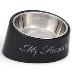 """My Fav Dog"" Skrå-kant 18cm Grå Hundeskål Dog Bowls, Dogs, Dog, Pet Dogs, Doggies"