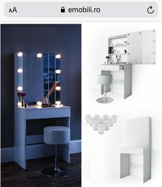 Makeup Dressing Table, Beauty Room, Vanity, Mirror, Furniture, Home Decor, Hollywood, Blog, Products