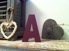 Freestanding Wooden Letter 'A'   12cm  Ariel by LoveLettersMe, £4.95