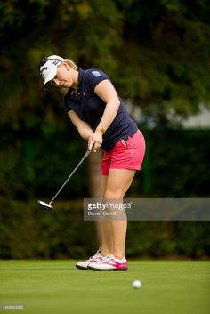 Morgan Pressel of the United States putts at the third hole during the first round of the 2014 Lorena Ochoa Invitational presented by Banamex at Club de Golf Mexico on November 13, 2014 in Mexico City, Mexico.
