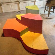 1 of 2 sets of symmetrical platform/steps for Seussical