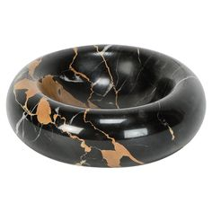 Italian Marble Ashtray Bowl by Sergio Asti 1960s | From a unique collection of antique and modern ashtrays at https://www.1stdibs.com/furniture/dining-entertaining/ashtrays/