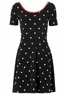 Shirtkleid, RAINBOW, schwarz/weiß gepunktet 19,99
