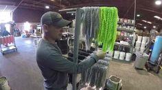 Pouring plastics at Gene Larew Lures featuring Andrew Upshaw