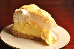lemon icebox pie... one of many items a proper Southern Lady must have in her culinary repetoire... and she's right, it does has to have a meringue!!!