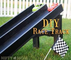 diy wood race track perfect for indoors or outdoors