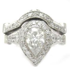 Pear Shape Diamond Bezel Set Engagement Ring And Band 2.22Ctw Design By KNR http://www.amazon.com/dp/B0085TB4DA/ref=cm_sw_r_pi_dp_f7vhvb0BN26ZM
