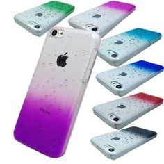 BeeShine Bundle of 7 Color Waterdrop Raindrop Design Hard Skin Snap on Case Back Cover For Apple iPhone 5C (Clear Purple, Clear Smoke, Clear Red, Clear Dark Blue, Clear Hot Pink, Clear Sky Blue, Clear Green):Amazon:Cell Phones & Accessories