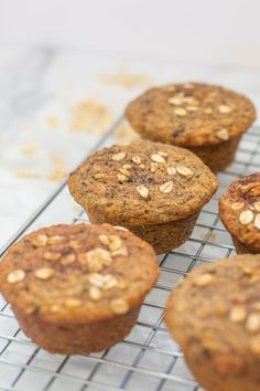 Banana protein muffins that are moist, fluffy, and full of flavor! These will definitely become a healthy recipe staple for your family. Add pecans or other nuts for even more protein and a little texture. They're naturally sweetened and a perfect on-the-go easy breakfast with protein (great for kids and families!). Banana Protein Muffins, Protein Breakfast, Toddler Meals, Kids Meals, Easy Meal Prep, Easy Meals, Pecans, Family Meals, Families