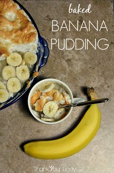 This real-food baked banana pudding is gluten free, pretty and delicious! #banana #pudding #glutenfree #health #realfood