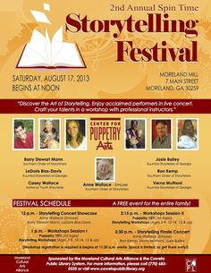 August 17, 2013: 2nd Annual Spin Time Storytelling Festival in Moreland, #Georgia.