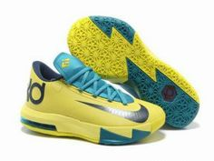 Discount Price at Nike Zoom KD 6 Yellow Teal Navy shoes. Our store sale cheap